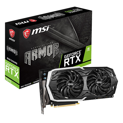 MSI GeForce RTX 2070 ARMOR 8G pas cher