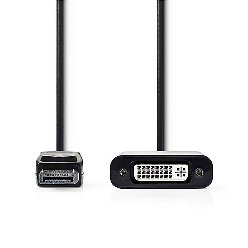 Nedis Câble DisplayPort mâle vers DVI-D femelle (20 cm) pas cher