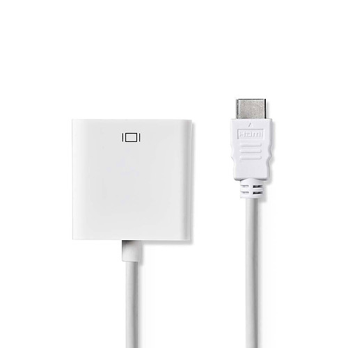 Nedis Câble HDMI vers VGA + Jack Blanc (20 cm) pas cher