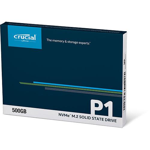 Crucial P1 M.2 PCIe NVMe 500 Go pas cher
