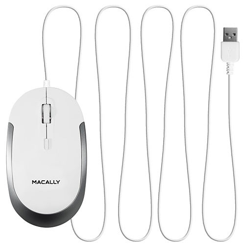 Macally Dynamouse Blanc pas cher