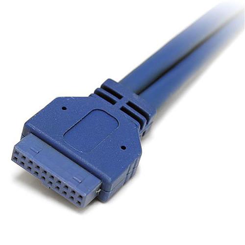 StarTech.com Câble adaptateur USB 3.0 IDC 20 broches vers plaque à 2 ports USB A encastrés pas cher