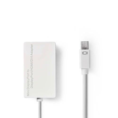 Nedis Adaptateur Multi mini DisplayPort Mâle vers DVI-D 24+1   DisplayPort   HDMI pas cher