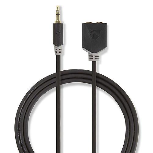 Nedis Câble Audio Stéréo 3.5mm Mâle/Femelle - 20 cm pas cher