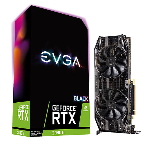 EVGA GeForce RTX 2080 Ti BLACK EDITION GAMING pas cher
