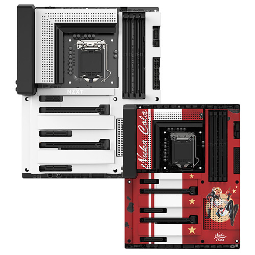 NZXT N7 Z370 - Blanc + Nuka-Cola Cover offert pas cher