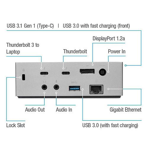 Targus USB-C DV4K Docking Station with 85W Power (DOCK220EUZ ) pas cher