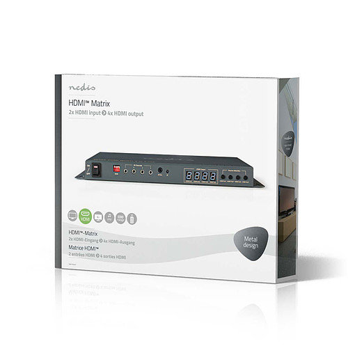 NEDIS Matriciel HDMI 2x4 pas cher