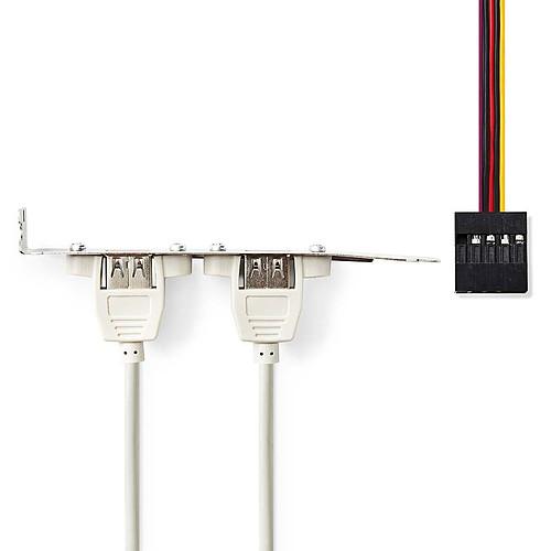 Nedis Equerre slot pour 2 ports USB 2.0 pas cher