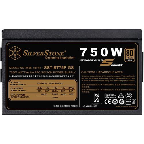 SilverStone Strider ST75F-GS V 2.0 80PLUS Gold pas cher
