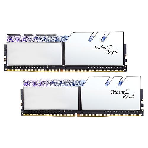 G.Skill Trident Z Royal 16 Go (2x 8 Go) DDR4 3200 MHz CL14 - Argent pas cher