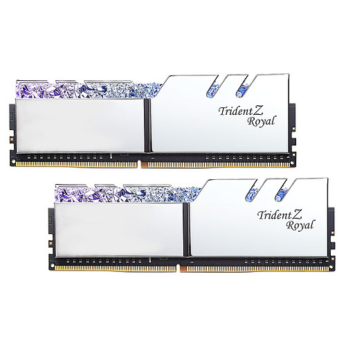 G.Skill Trident Z Royal 16 Go (2x 8 Go) DDR4 3600 MHz CL18 - Argent pas cher
