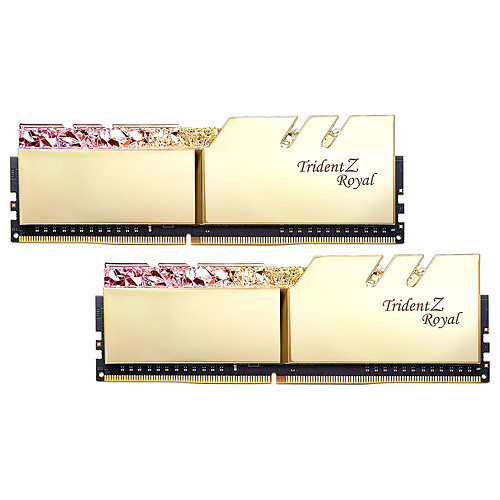 G.Skill Trident Z Royal 16 Go (2x 8 Go) DDR4 3200 MHz CL14 - Or pas cher
