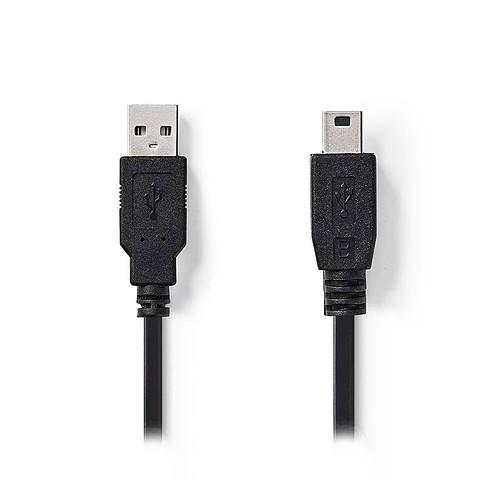 Nedis Câble USB/Mini USB - 2 m pas cher
