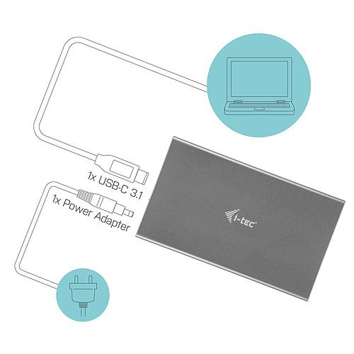 """i-tec MySafe USB-C Advance 3.5"""" Gris pas cher"""