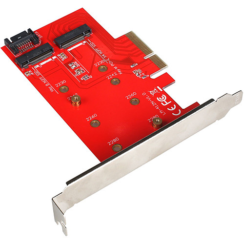 i-tec PCI-E 2x M.2 Card (PCE2M2) pas cher