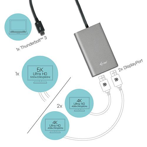 i-tec Thunderbolt 3 adaptateur vidéo double DP pas cher