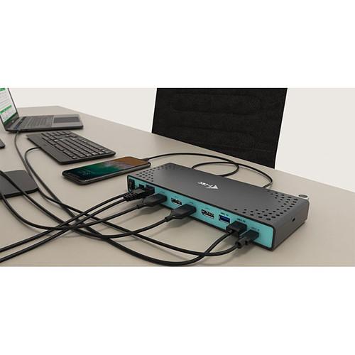i-tec USB 3.0 / USB-C Dual Display Docking Station + Power Adapter 100W pas cher