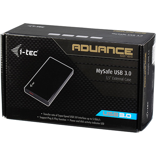 "i-tec MySafe Advance Black 3.5"" USB 3.0 pas cher"