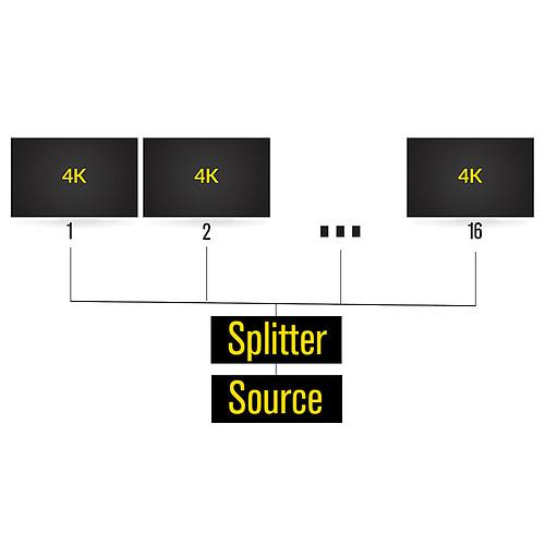 HDElite ProHD Splitter (16 ports) pas cher
