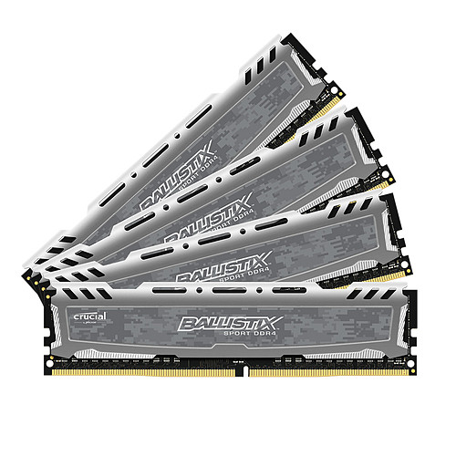 Ballistix Sport LT 32 Go (4 x 8 Go) DDR4 3200 MHz CL16 SR pas cher