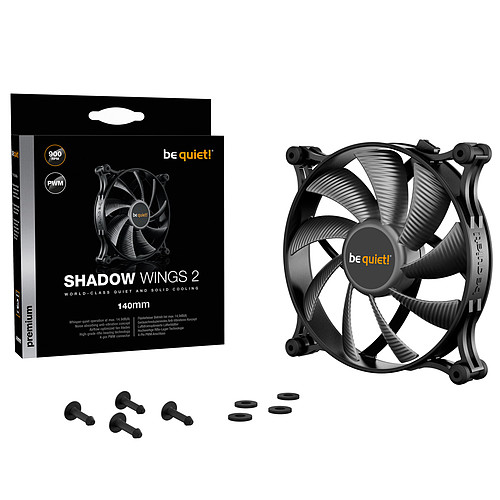 be quiet! Shadow Wings 2 140mm PWM pas cher