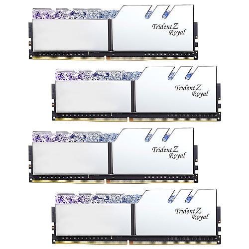 G.Skill Trident Z Royal 32 Go (4x 8 Go) DDR4 3000 MHz CL16 - Argent pas cher