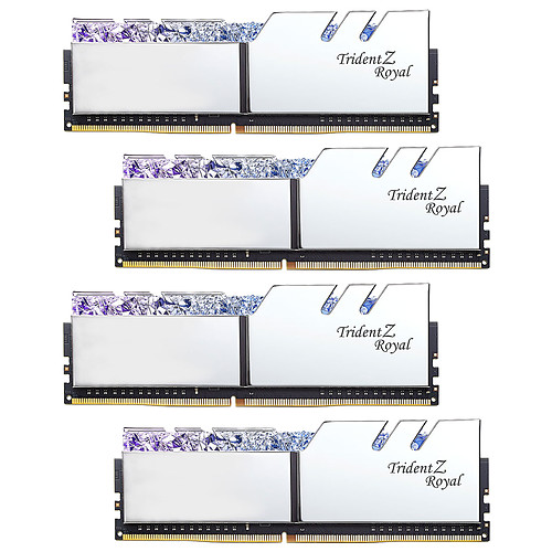 G.Skill Trident Z Royal 64 Go (4 x 16 Go) DDR4 3200 MHz CL16 - Argent pas cher