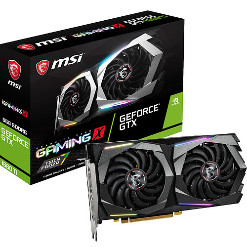 MSI GeForce GTX 1660 Ti GAMING X 6G pas cher