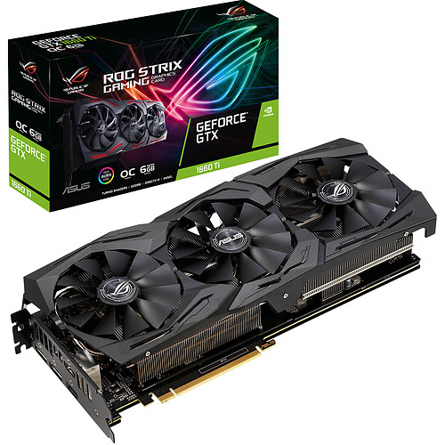 ASUS GeForce GTX 1660 Ti ROG-STRIX-GTX1660TI-O6G-GAMING pas cher