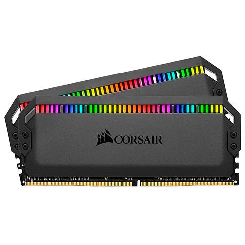 Corsair Dominator Platinum RGB 32 Go (2x 16Go) DDR4 3000 MHz CL15 pas cher