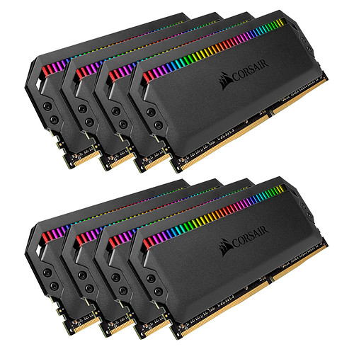 Corsair Dominator Platinum RGB 64 Go (8x 8Go) DDR4 3600 MHz CL16 pas cher