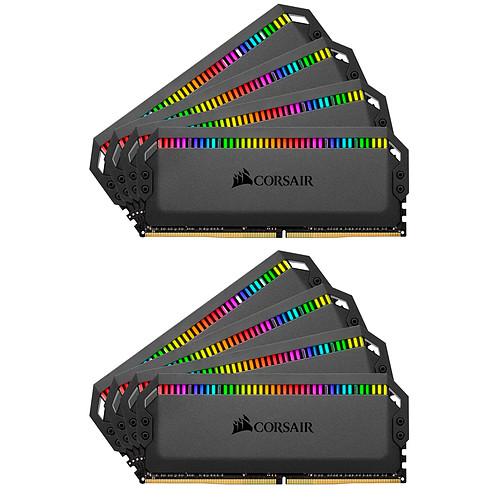 Corsair Dominator Platinum RGB 64 Go (8x 8Go) DDR4 3600 MHz CL18 pas cher