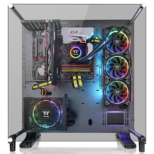 Thermaltake Core P5 Tempered Glass Ti Edition - Space Grey pas cher