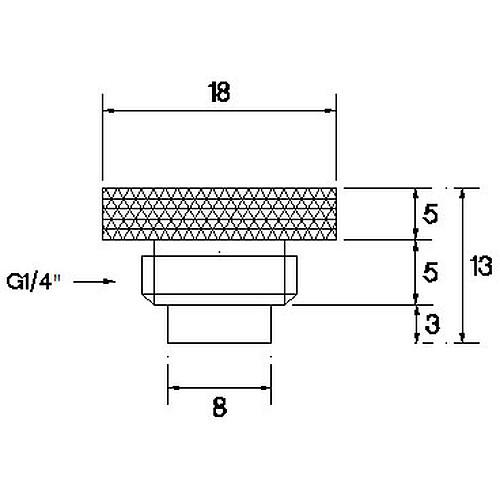 Barrow Bouchon avec capteur de température - Argent (TCWD-V1) pas cher