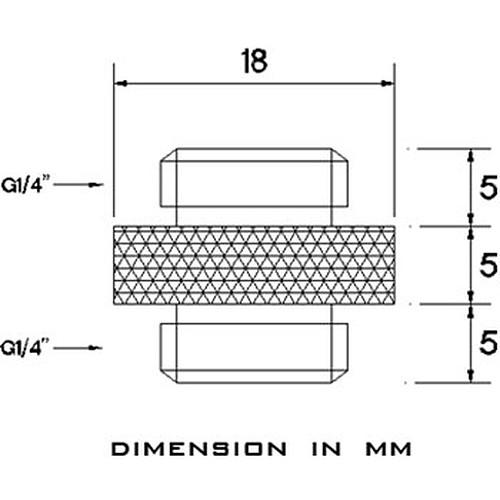 Barrow Extension Mâle vers Mâle 5 mm - Noir (TB2D-MINI01) pas cher