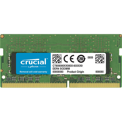 Crucial SO-DIMM DDR4 16 Go 3200 MHz CL22 DR X8 pas cher