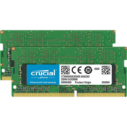 Crucial SO-DIMM DDR4 16 Go (2 x 8 Go) 3200 MHz CL22 SR X8 pas cher