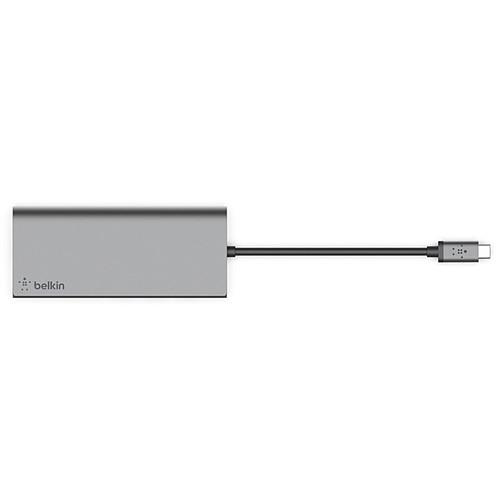 Belkin Station d'accueil USB-C Multimédia Hub avec RJ45 passthrough 60 W pas cher