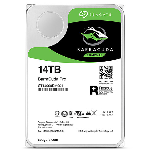 Seagate BarraCuda Pro 14 To (ST14000DM001) pas cher