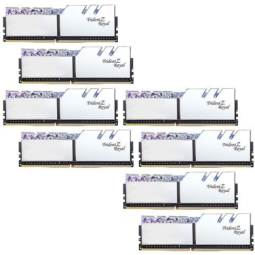 G.Skill Trident Z Royal 128 Go (8 x 16 Go) DDR4 3200 MHz CL16 - Argent pas cher