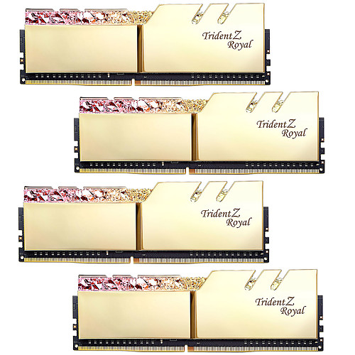 G.Skill Trident Z Royal 32 Go (4 x 8 Go) DDR4 3200 MHz CL14 - Or pas cher