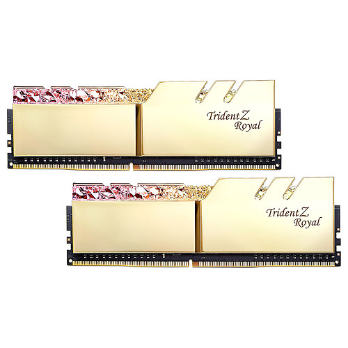 G.Skill Trident Z Royal 16 Go (2 x 8 Go) DDR4 4800 MHz CL18 - Or pas cher