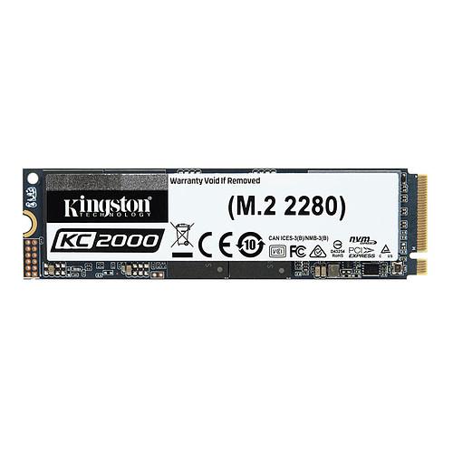 Kingston KC2000 M.2 PCIe NVMe 500 Go pas cher