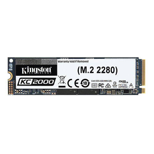 Kingston KC2000 M.2 PCIe NVMe 1 To pas cher