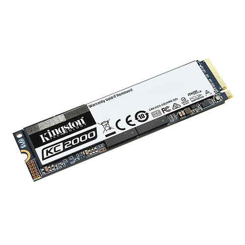 Kingston KC2000 M.2 PCIe NVMe 250 Go pas cher