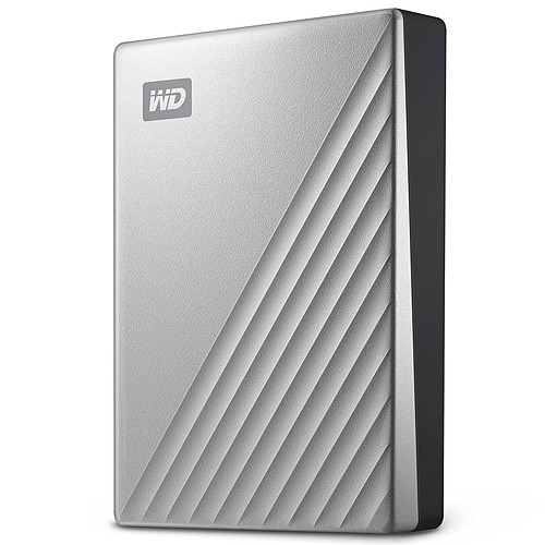 WD My Passport Ultra 4 To Argent (USB 3.0/USB-C) pas cher