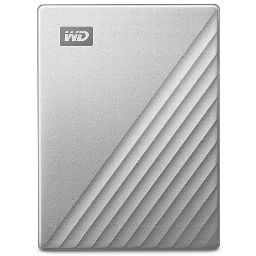 WD My Passport Ultra for Mac 2 To Argent (USB 3.0/USB-C) pas cher