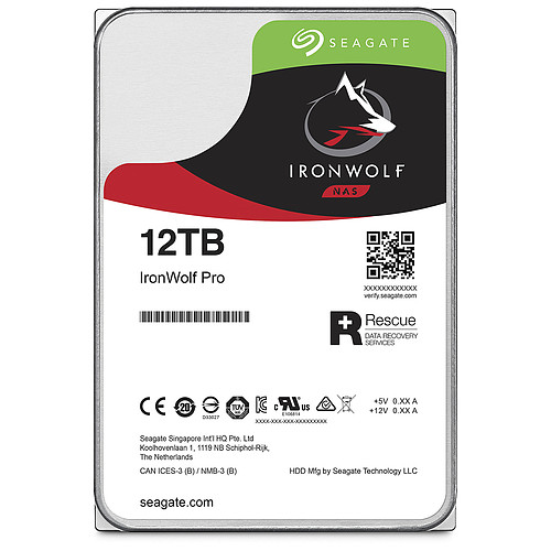 Seagate IronWolf Pro 12 To (ST12000NE0007) pas cher