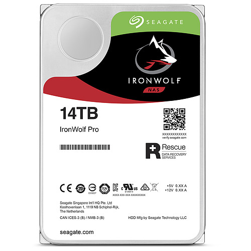 Seagate IronWolf Pro 14 To (ST14000NE0008) pas cher